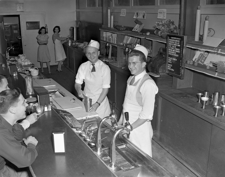 Soda Fountain Counter Oak Ridge 1947