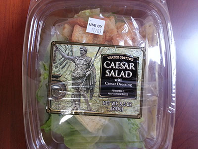 RECALLED -Trader Giotto's Caesar Salad