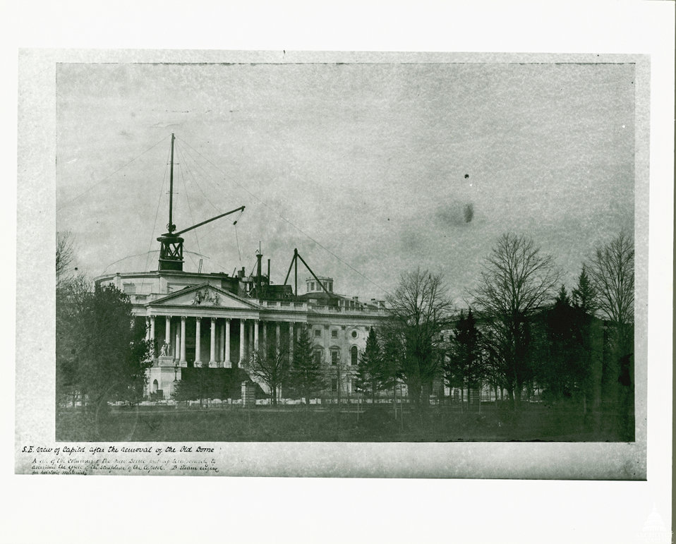 Capitol Construction January 1856