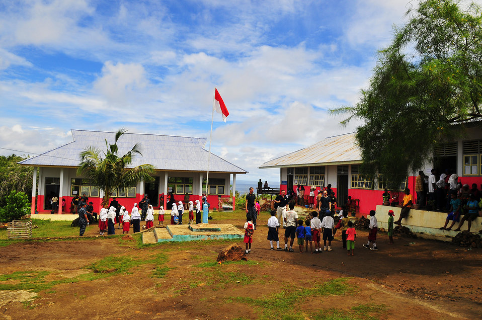 Local Indonesian Children Gather To Play Soccer