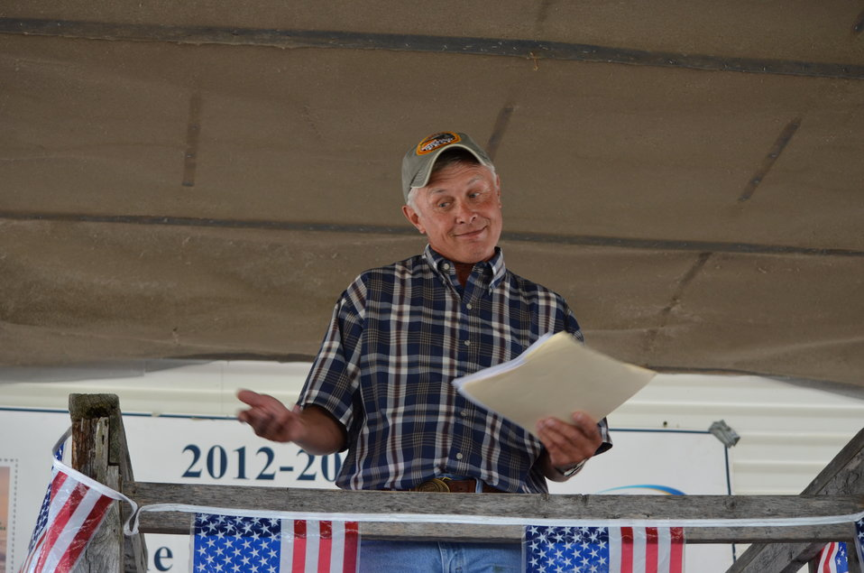 Emcee Billy Hildebrand. Service photo.