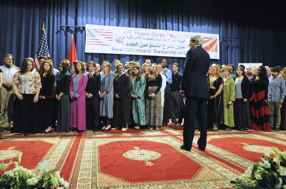Secretary Kerry Addresses Peace Corps Volunteers in Morocco