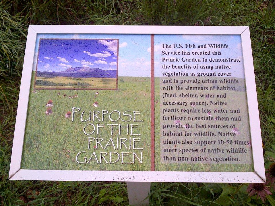 Sign Prairie Garden