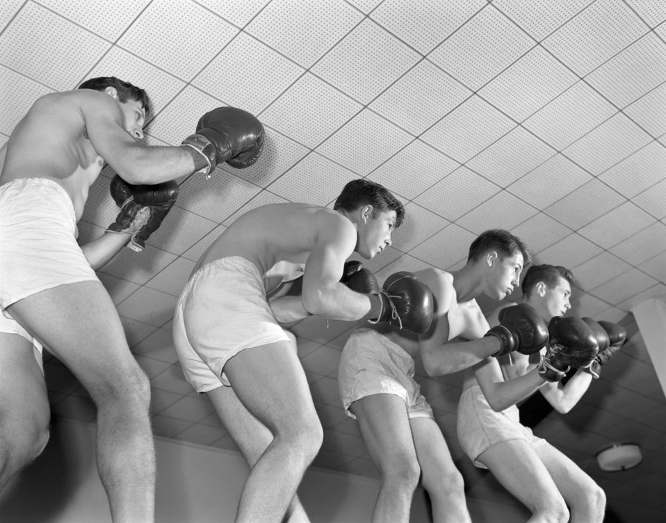 High School Boxing Team Oak Ridge 1947