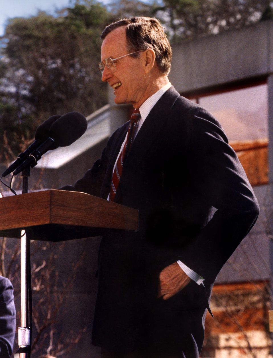 President George Bush visit to Oak Ridge National Lab