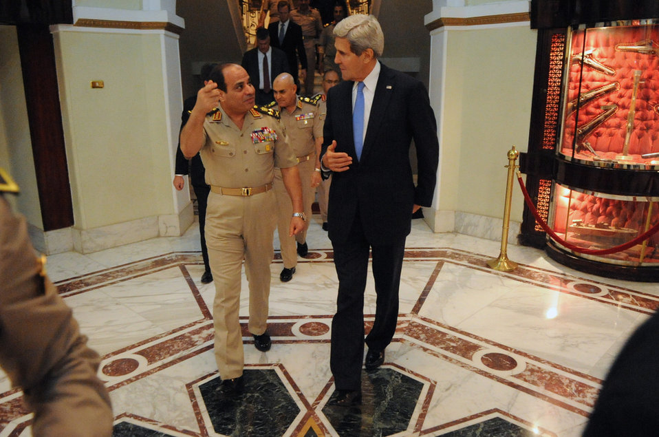 Secretary Kerry Bids Farewell to Egyptian Defense Minister General al-Sisi