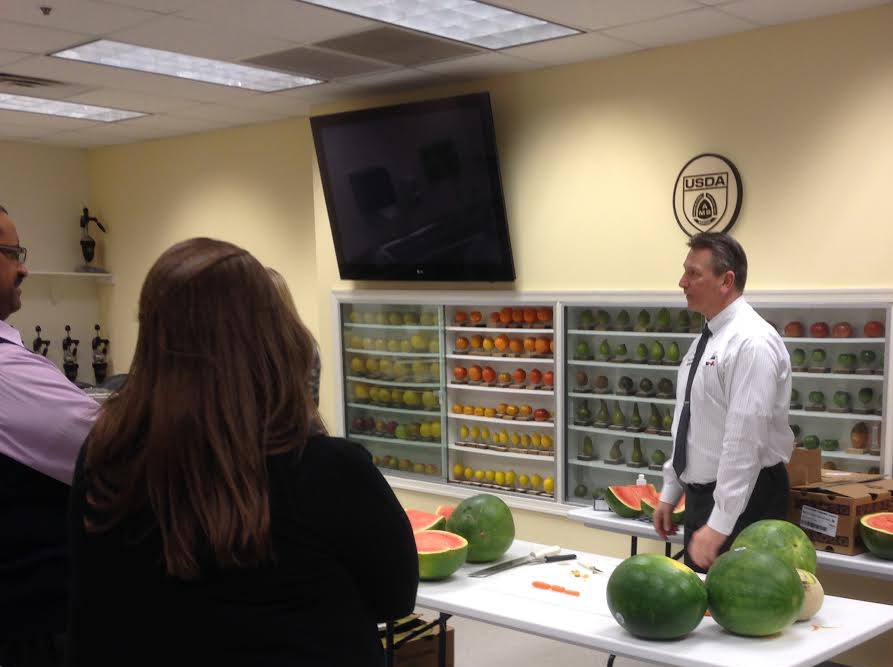 Produce Safety University - watermelon demonstration