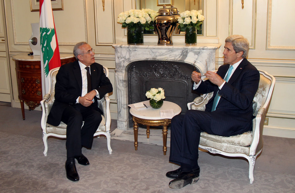 Secretary Kerry Meets With Lebanese President Sleiman