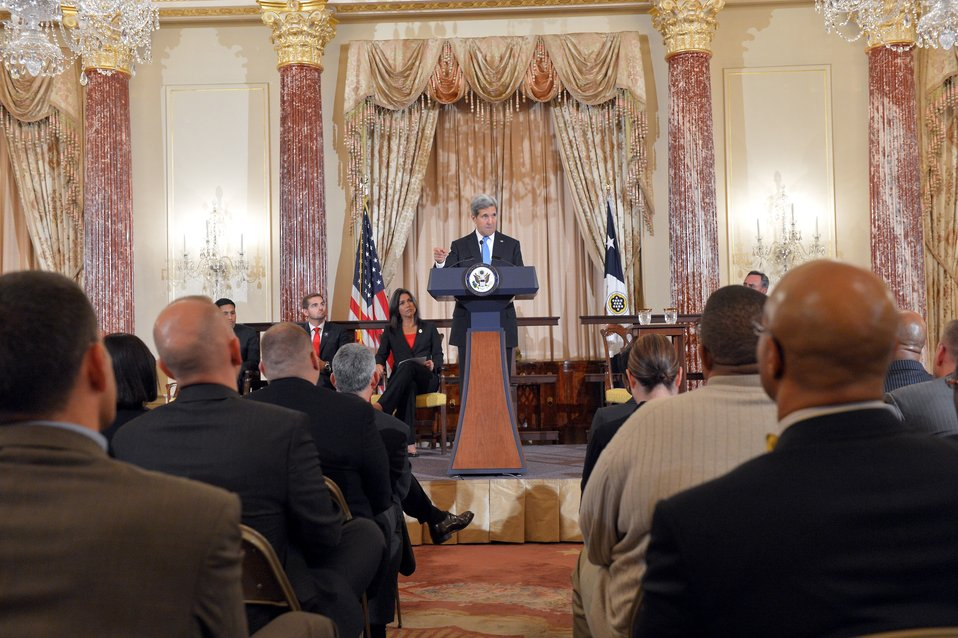 Secretary Kerry Delivers Remarks at a Veterans Partnership Announcement