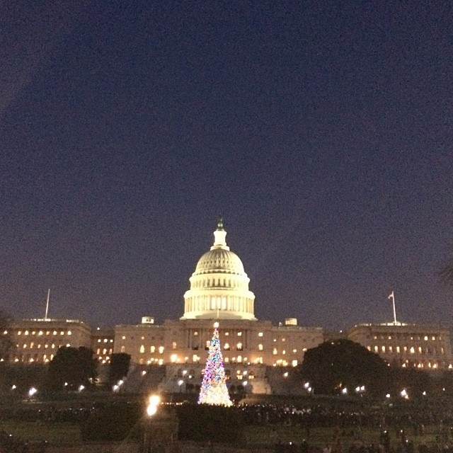Capitol Christmas Tree now lit.