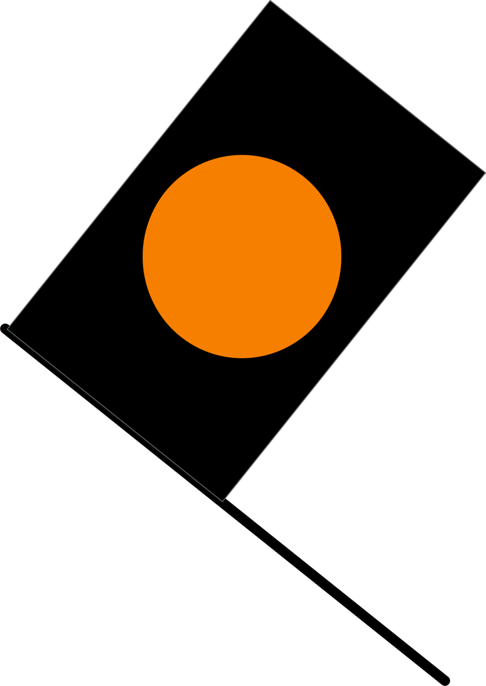 Black/orange flag