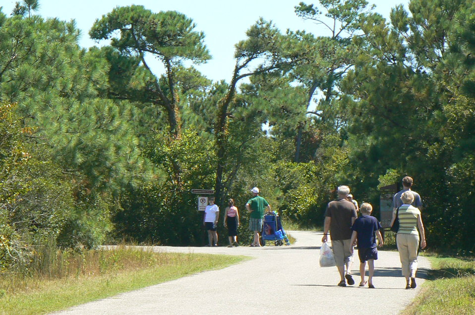 Walking to the Beach at Chincoteague