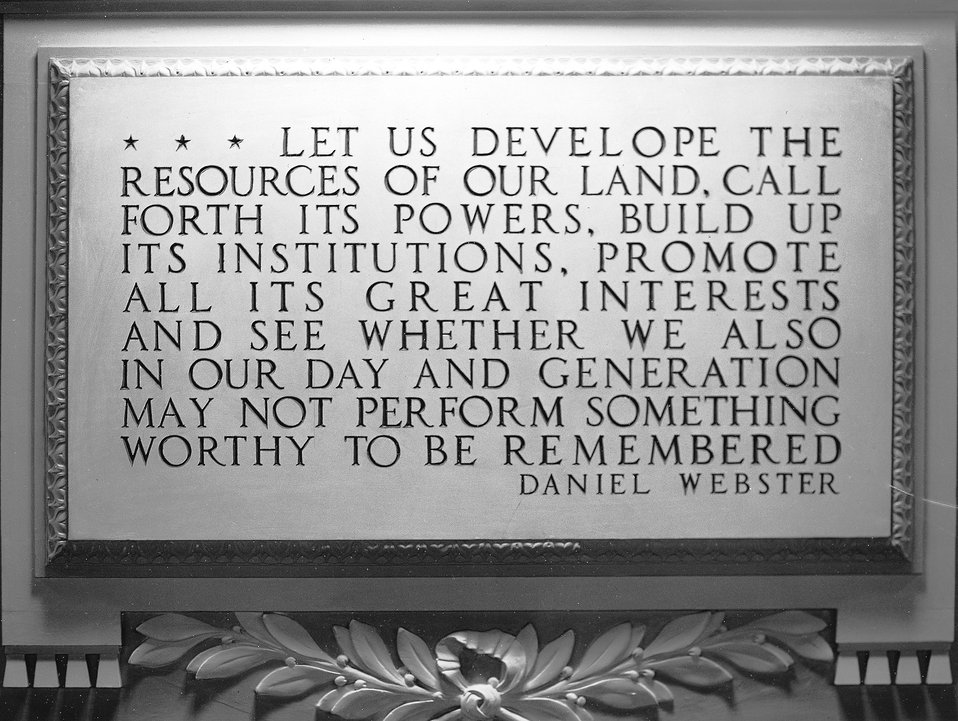 Quotation from Daniel Webster Plaque