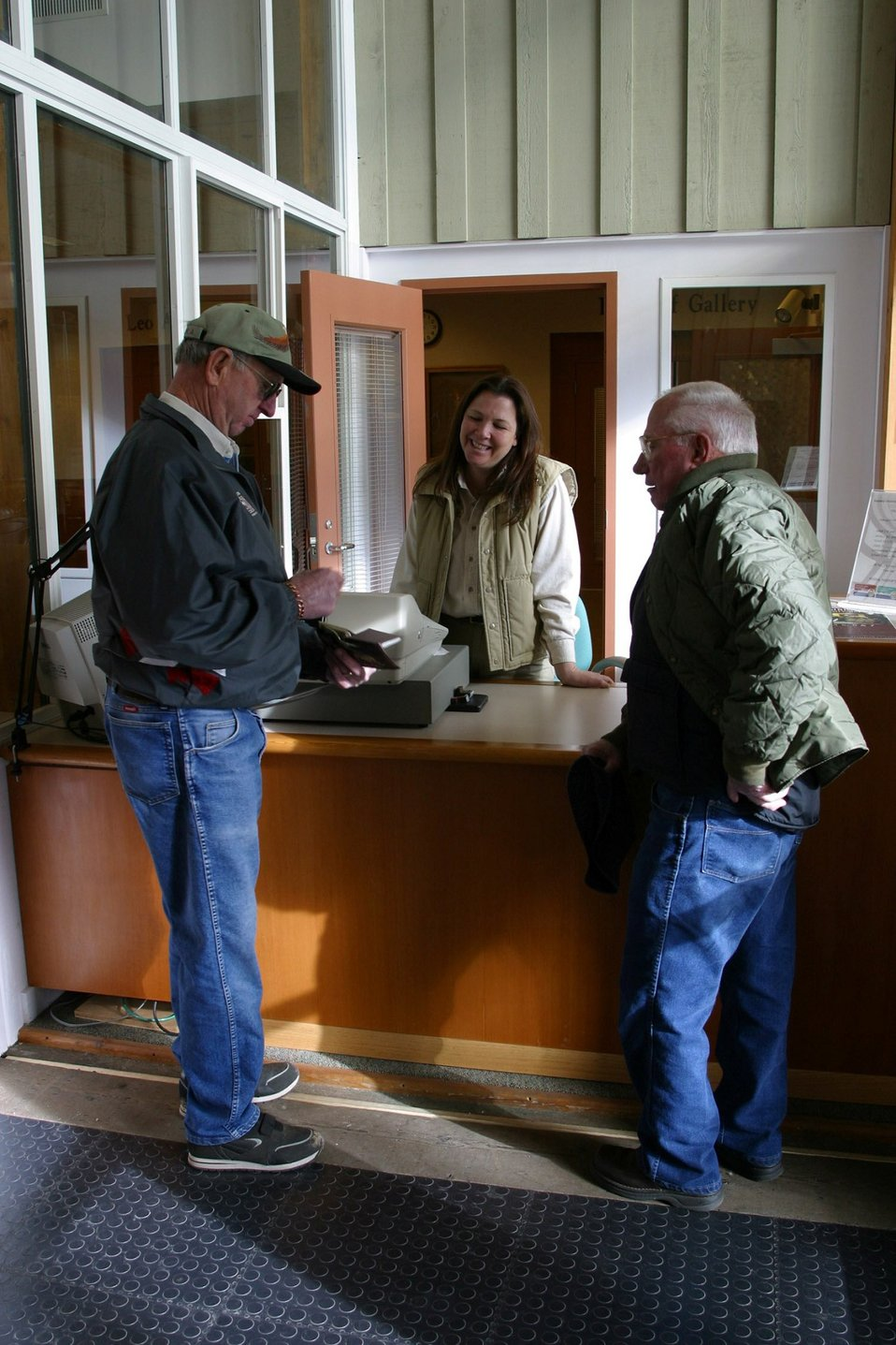 Visitors are greeted by BLM staff and Volunteers.