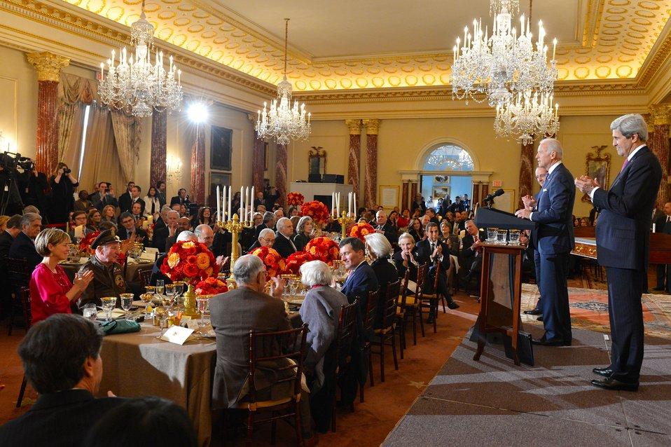 Vice President Biden Toasts the U.S.-France Friendship