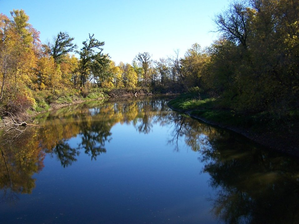 Souris River from Johnson Bridge