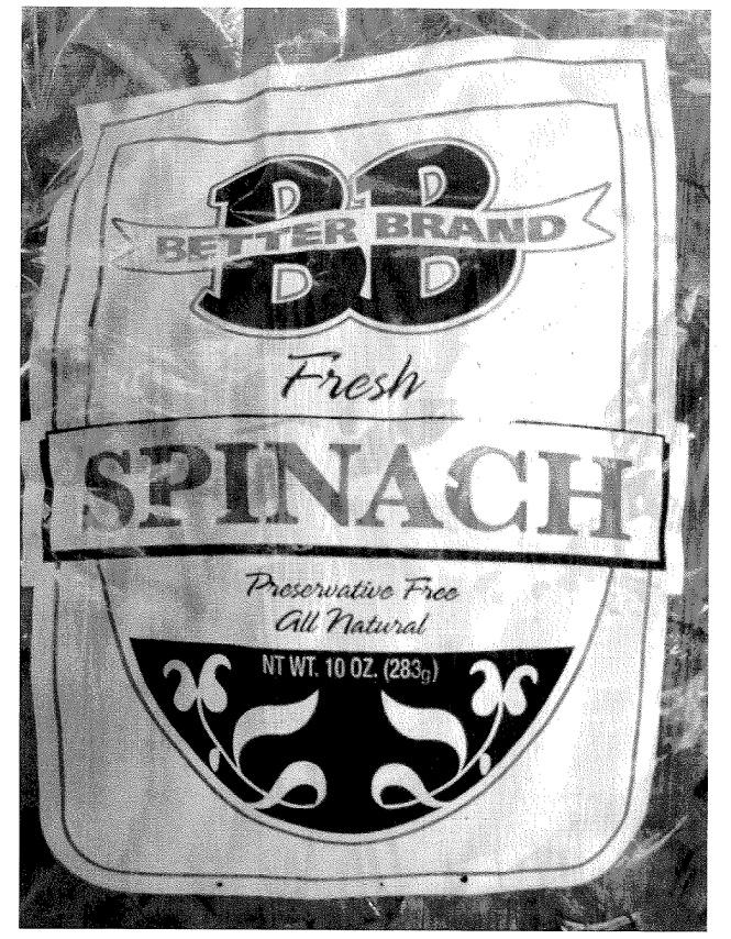 RECALLED - Fresh Spinach
