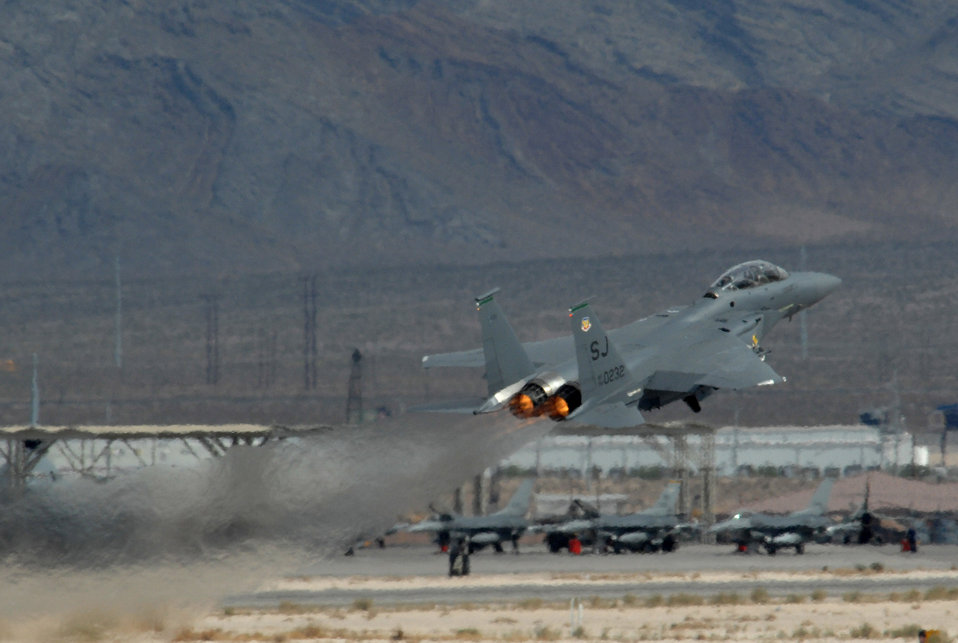 Green Flag launches Strike Eagles into the air