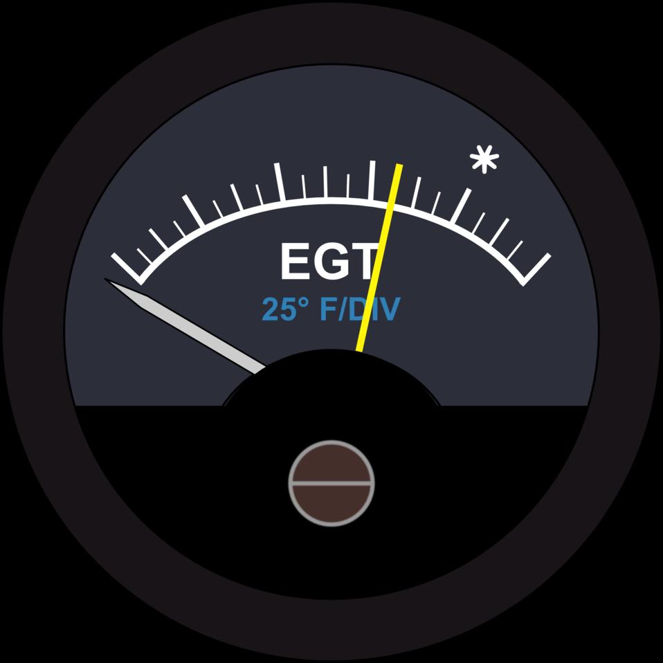 Aircraft EGT Guage