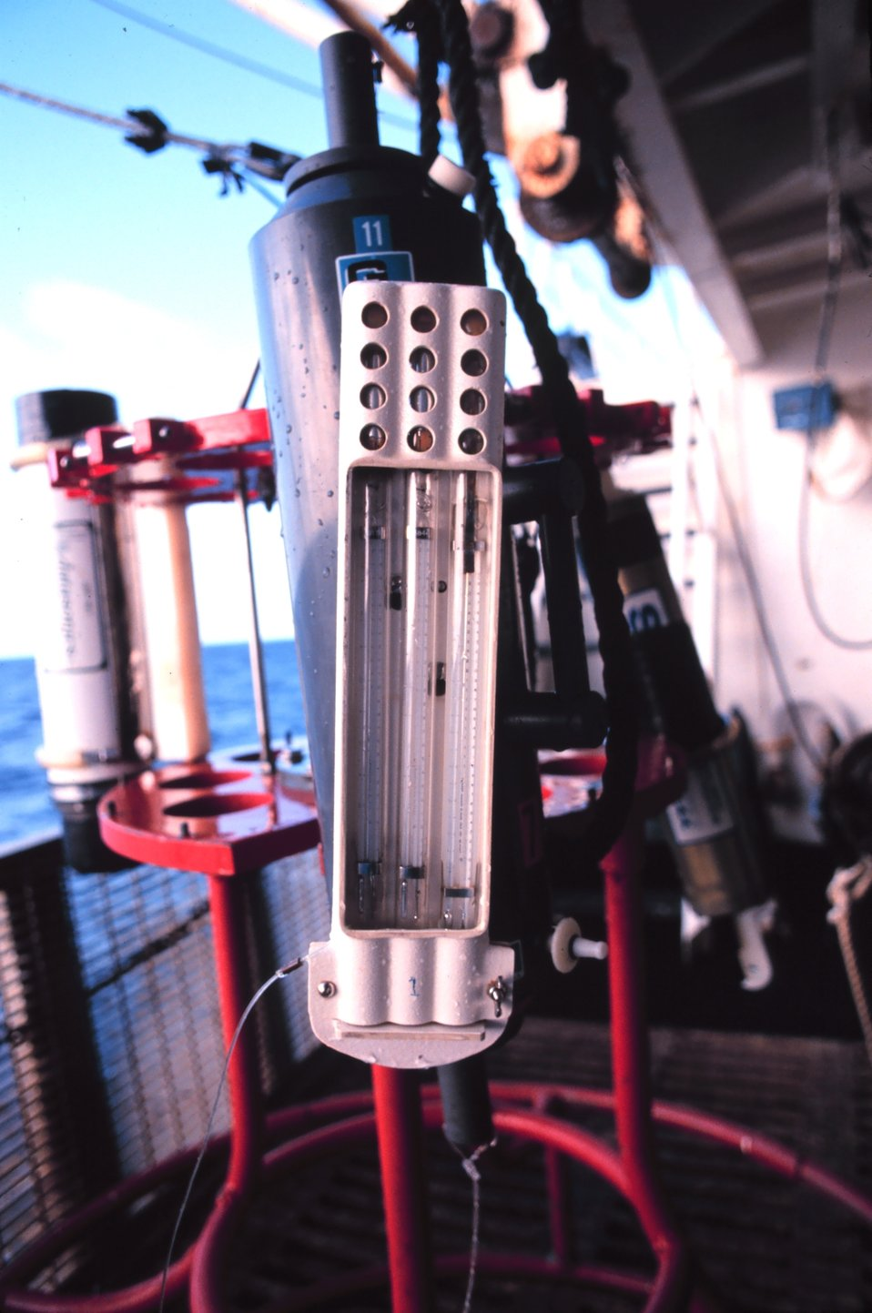 Temperature sensors on CTD instrument on MILLER FREEMAN.