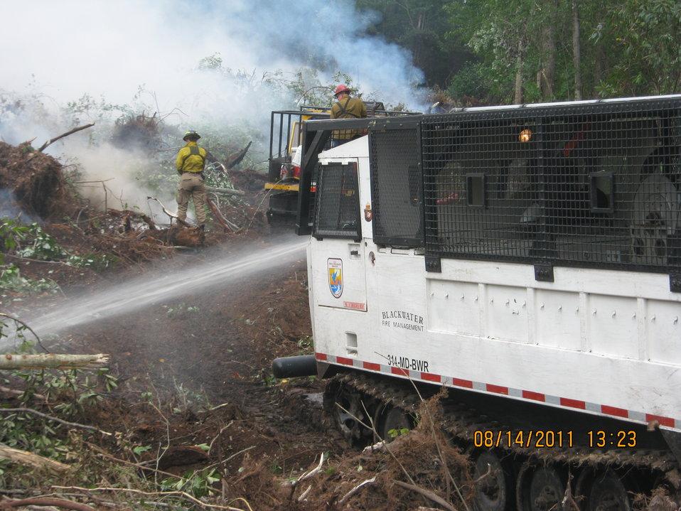 Swamp vehicle at work