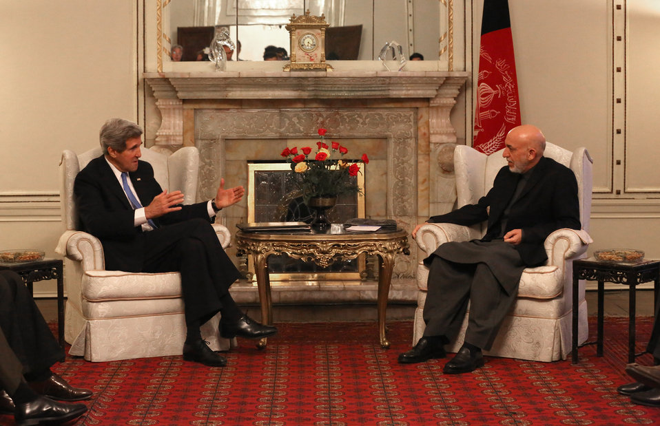 Secretary Kerry Meets With Afghan President Karzai