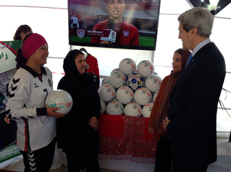 Secretary Kerry Tours the Women's Entrepreneurship Showcase in Kabul