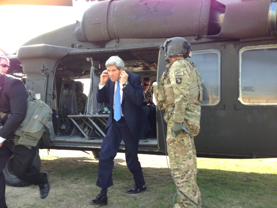 Secretary Kerry Arrives in Kabul