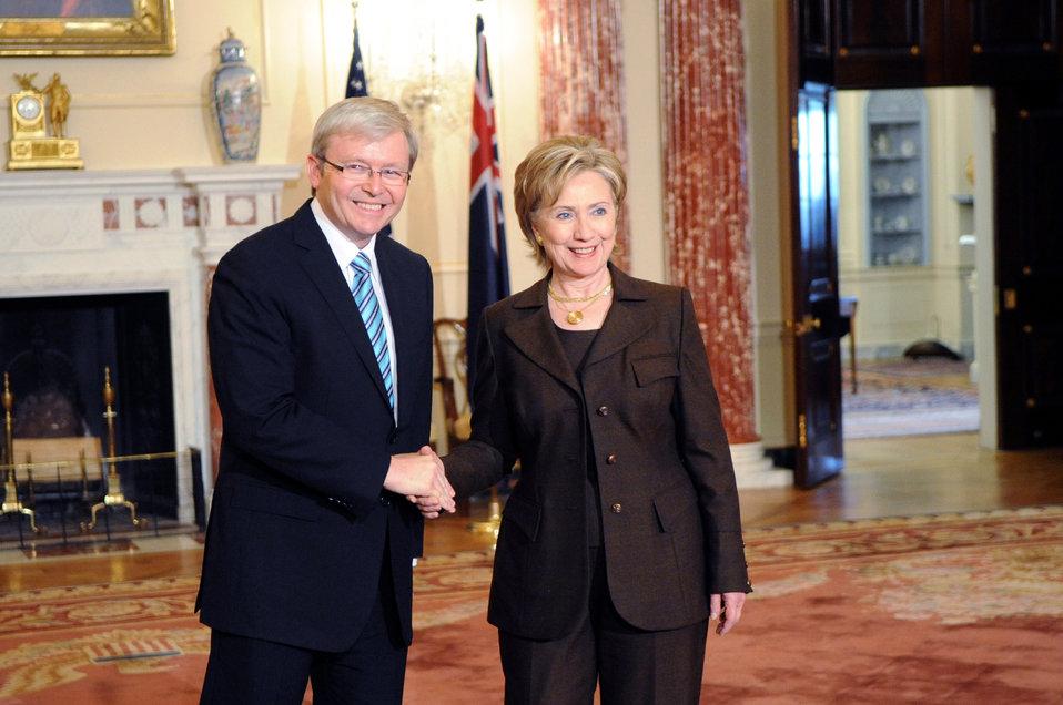Secretary Clinton Meeting With Australian Prime Minister