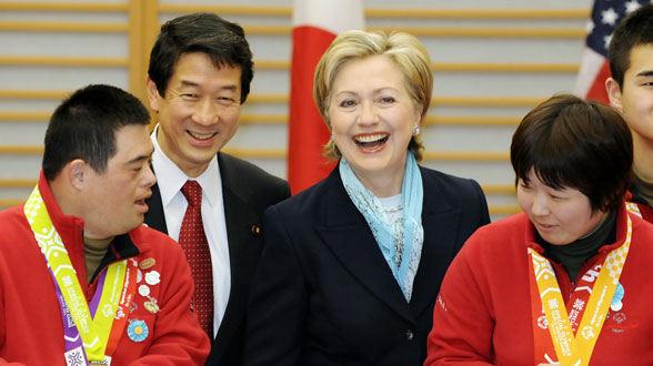 Secretary Clinton With Japanese Special Olympic Team