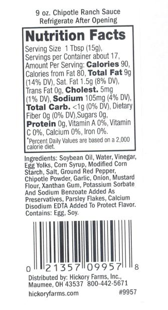 RECALLED – Chipotle Ranch Sauce