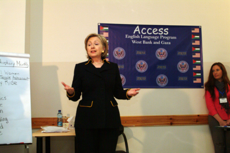 Secretary Clinton Attends Amideast Event