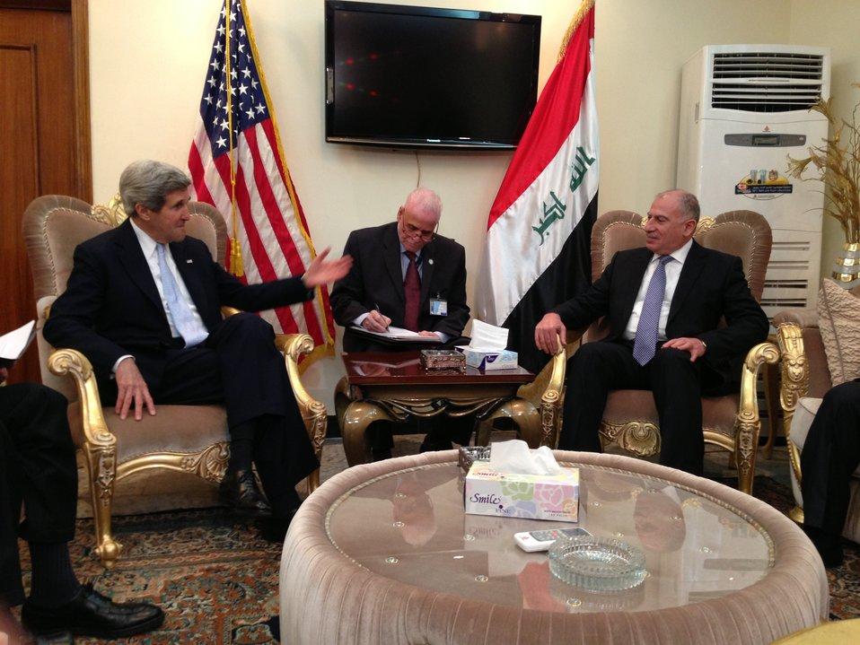 Secretary Kerry Meets With Iraqi Council Speaker al-Nujayfi