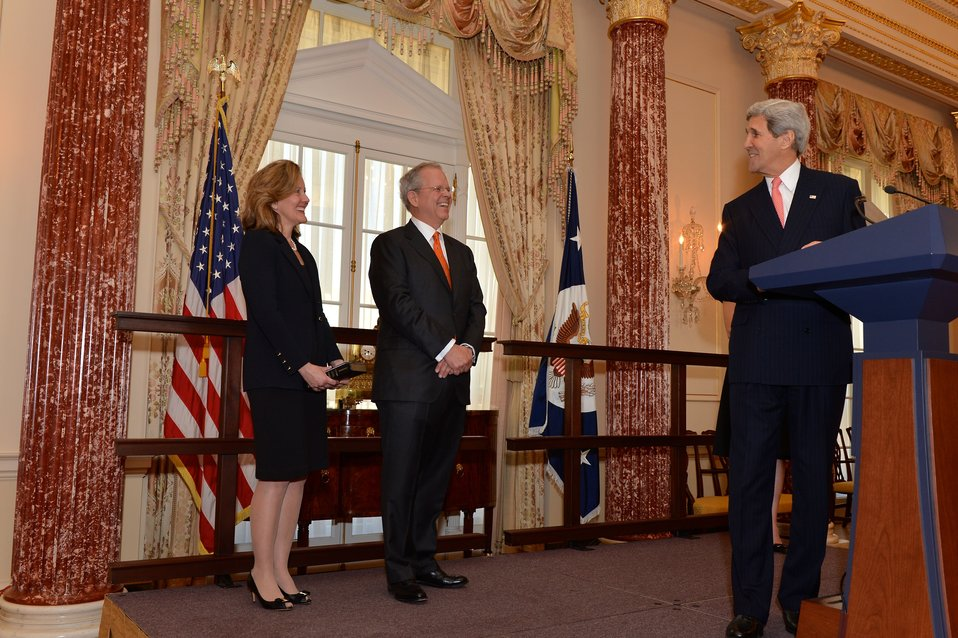Secretary Kerry Delivers Remarks at Ambassador Broas' Swearing-In Ceremony