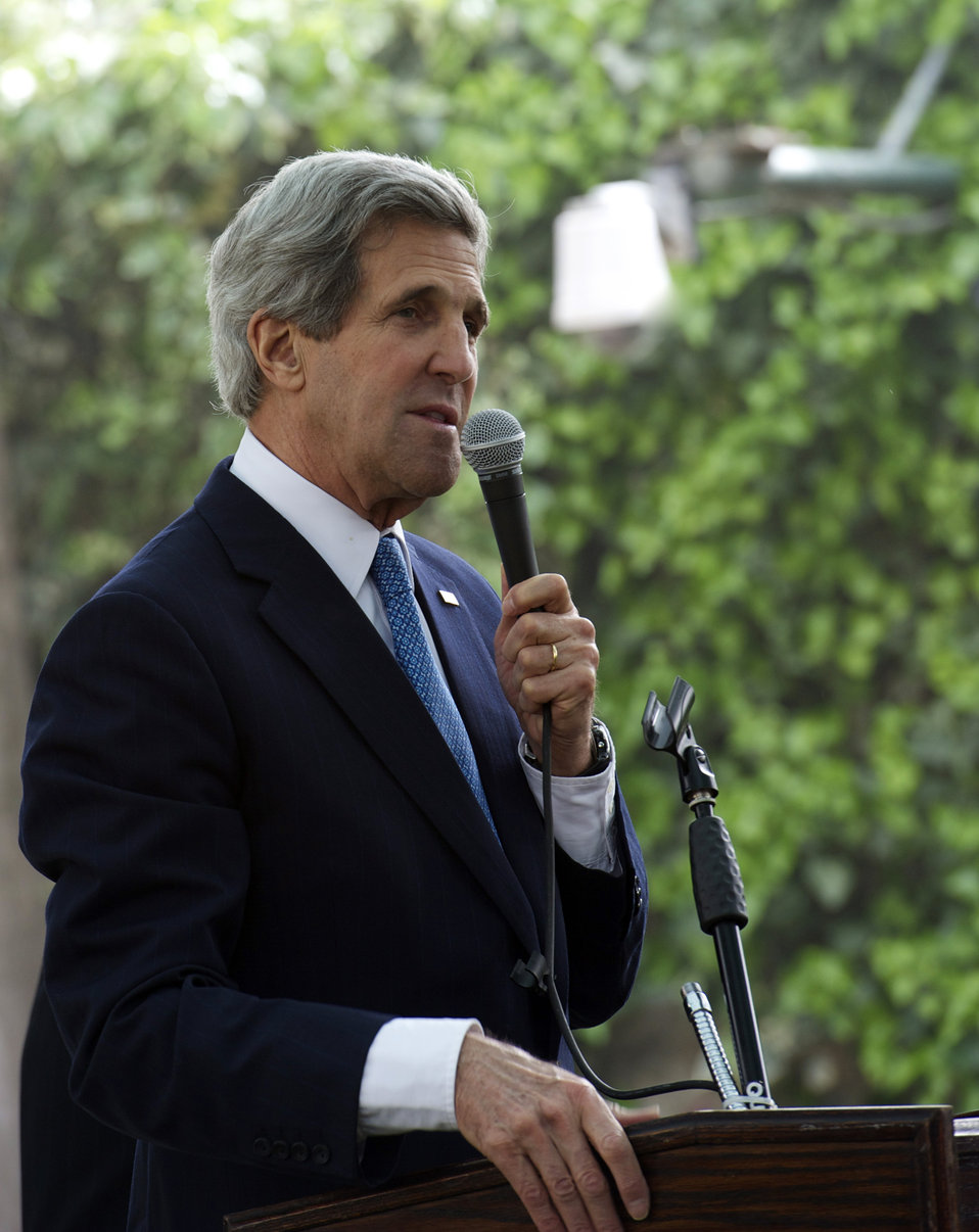 Secretary Kerry Addresses Consulate Jerusalem Staff and Families