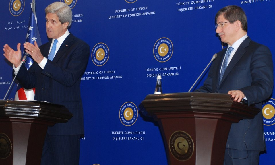 Secretary Kerry and Foreign Minister Davutoglu Deliver Remarks at Joint Press Availability in Istanbul, Turkey