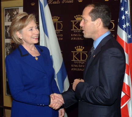 Secretary Clinton Meets Jerusalem Mayor