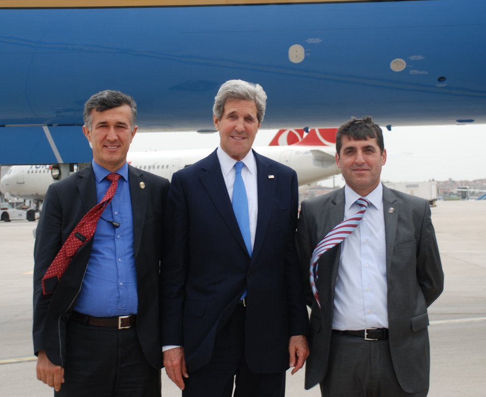 Secretary Kerry With Turkish National Police in Istanbul, Turkey