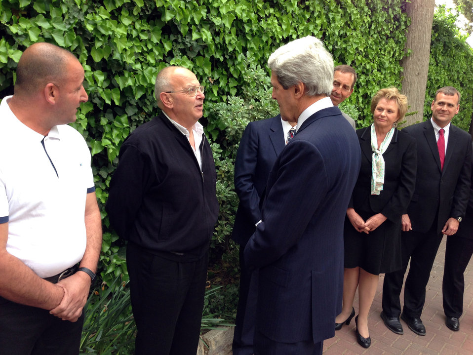 Secretary Kerry Speaks With the Staff of Consulate General Jerusalem