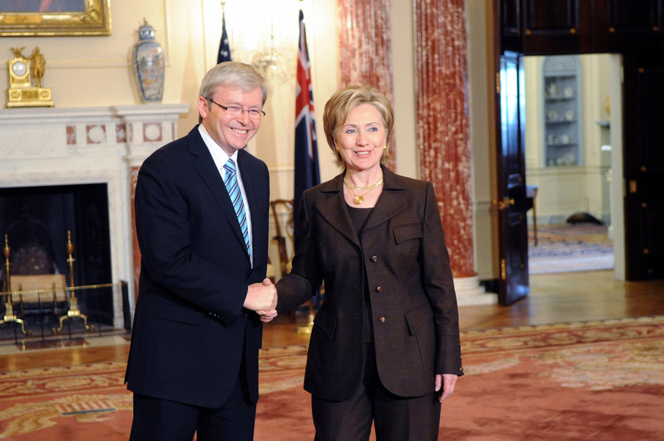 Secretary Clinton Meeting With Australian Prime Minister