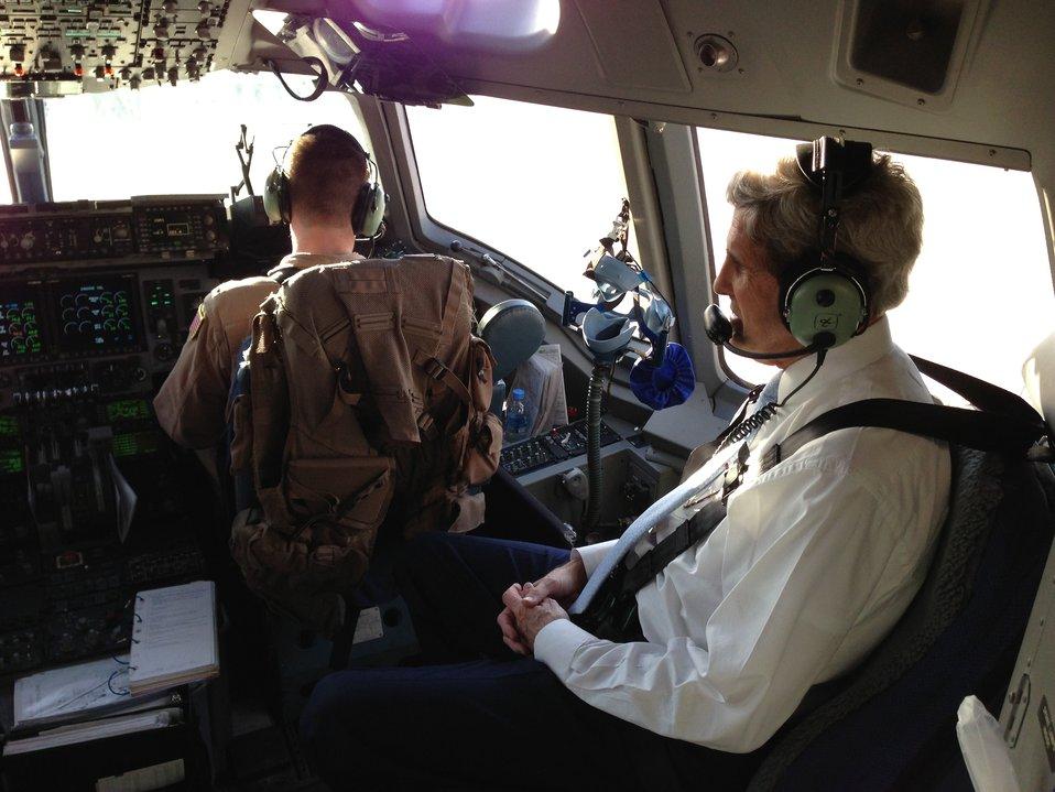Secretary Kerry Departs Baghdad
