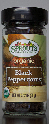 RECALLED – Organic Black Peppercorns