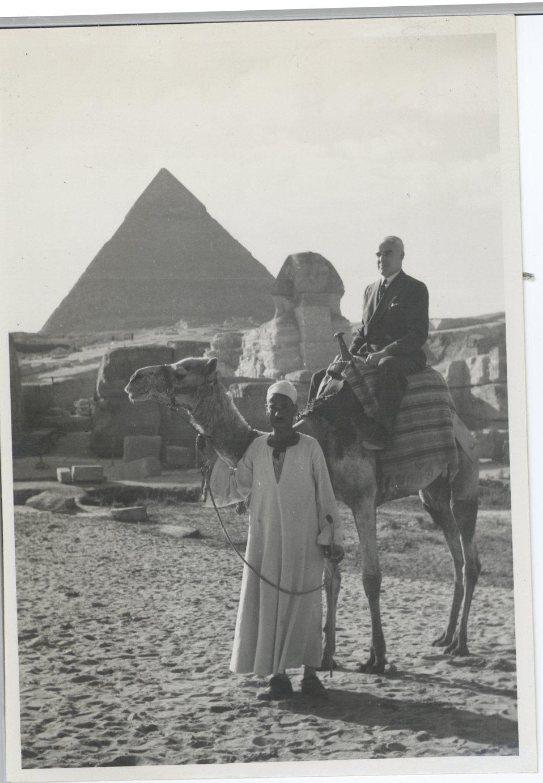 Secretary Stetinnius in Egypt