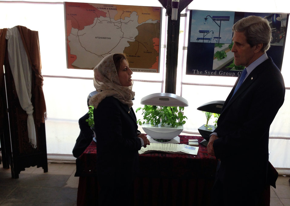 Secretary Kerry Tours Women's Entrepreneurship Showcase in Kabul