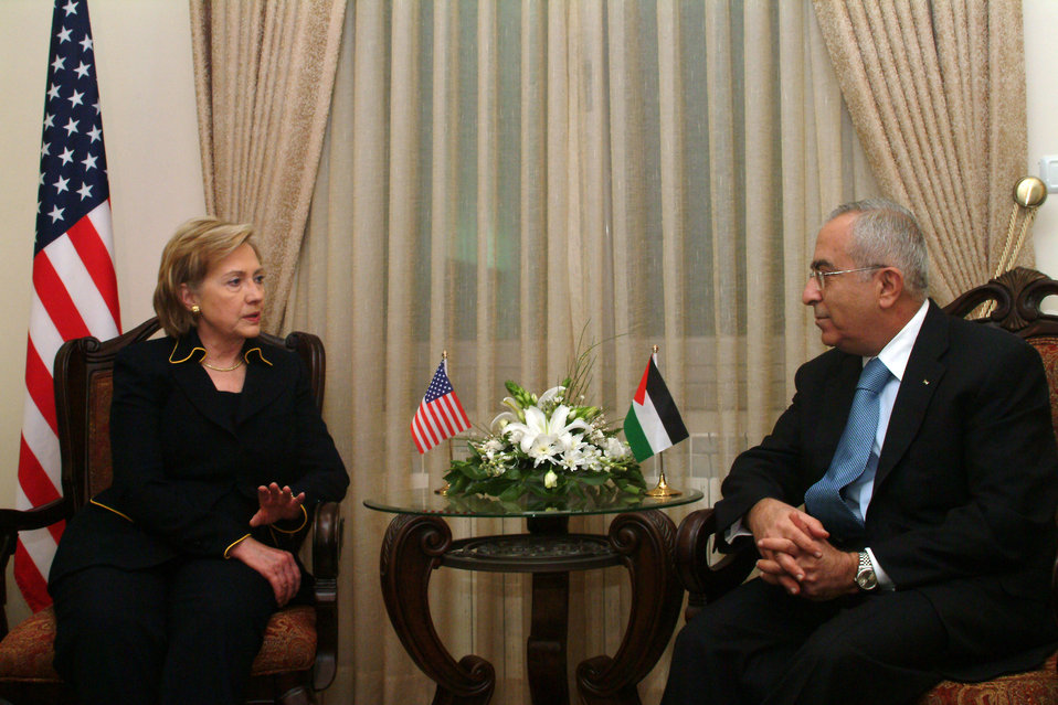 Secretary Clinton With Palestinian Authority Prime Minister