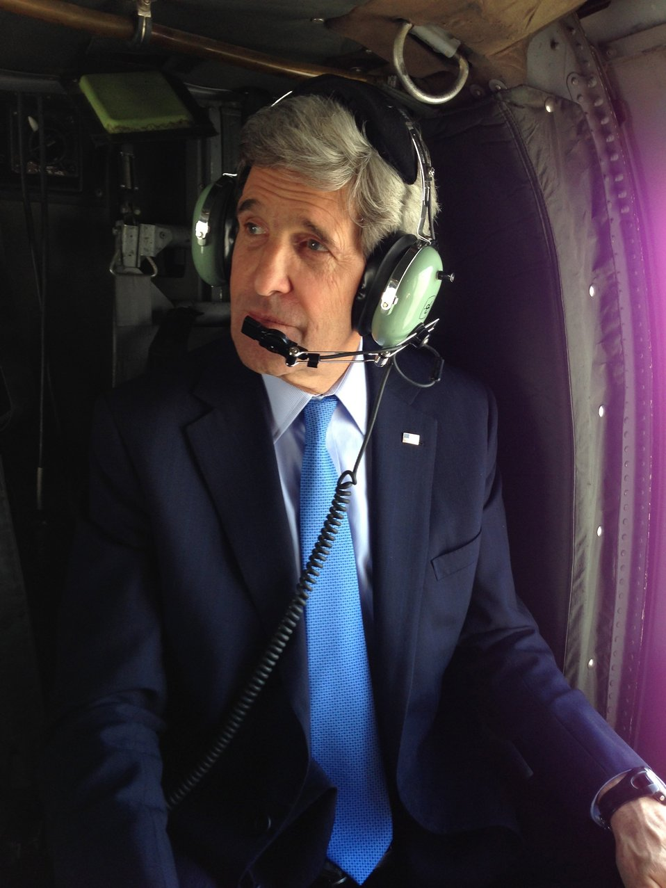 Secretary Kerry Departing U.S. Embassy Kabul