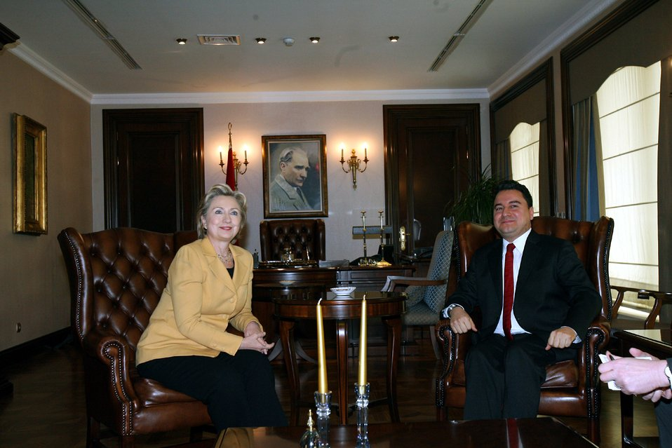 Secretary Clinton With Turkish Foreign Minister