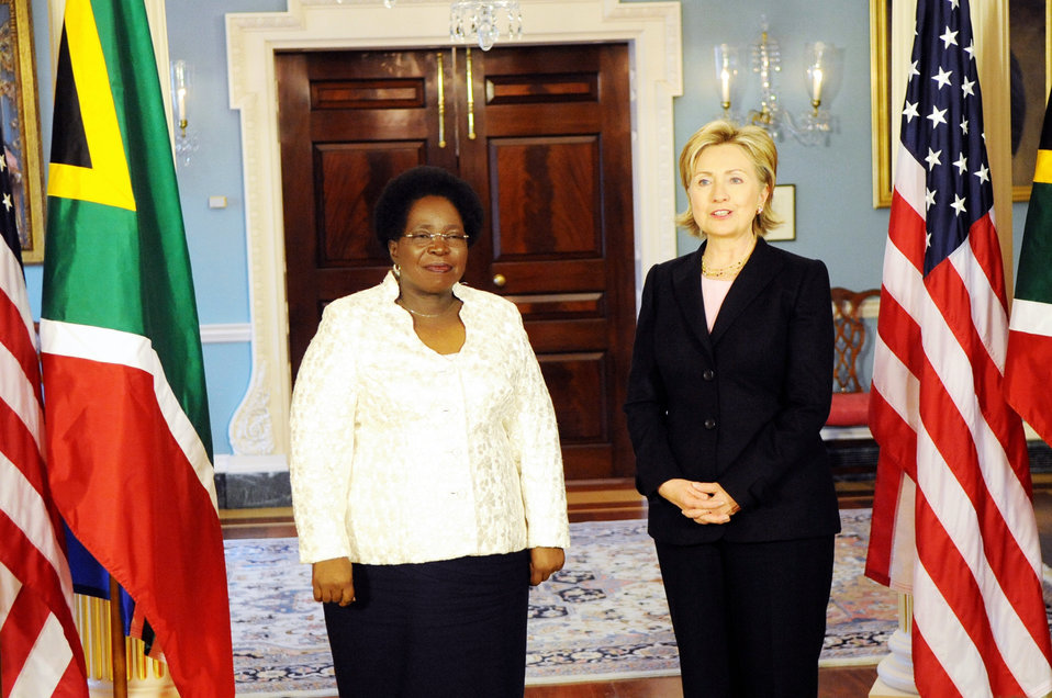 Secretary Clinton Meeting With South African Minister of Foreign Affairs