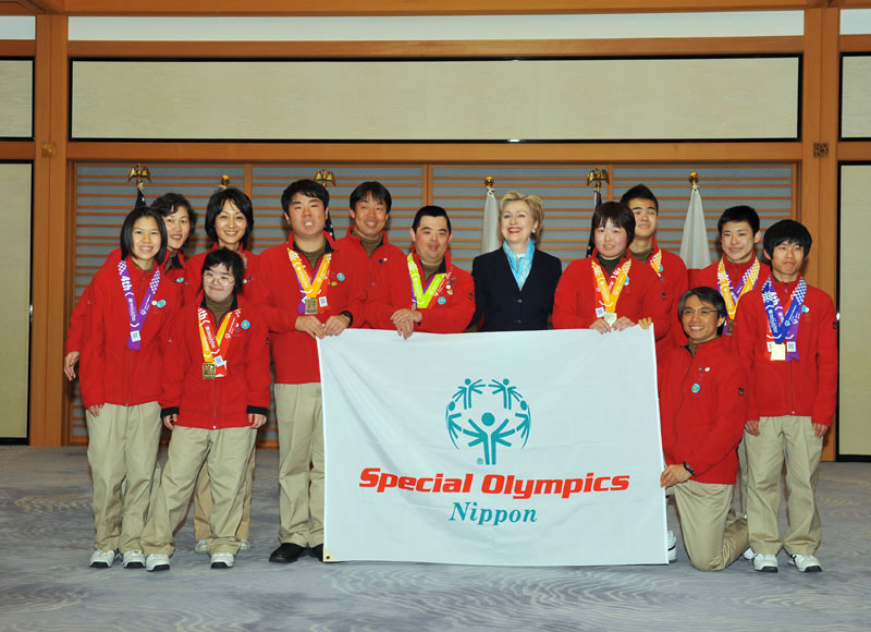 Secretary Clinton With Japan's Special Olympics Team