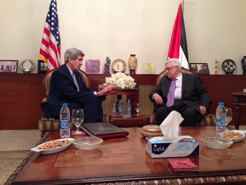 Secretary Kerry and Palestinian President Abbas Meet in Amman